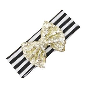 Other - NEW baby headband with gold sequin bow